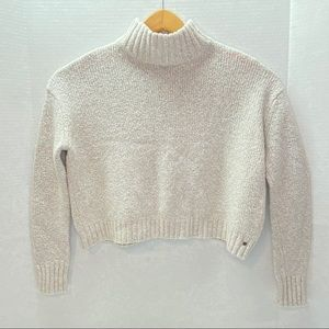 American Eagle MockNeck Crop Sweater